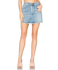 A Gold E | Quinn High Rise Mini Skirt Agolde