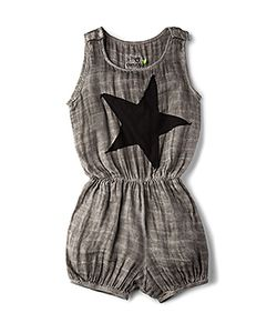 Nununu | Star Patch Muslin Yoga Overalls
