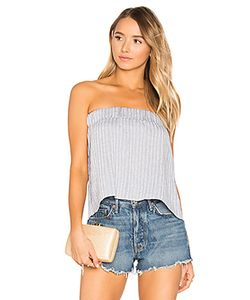 Suboo | Sky Strapless Pleat Top