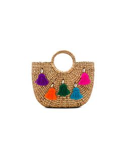 Jadetribe | Mini Tassel Small Basket