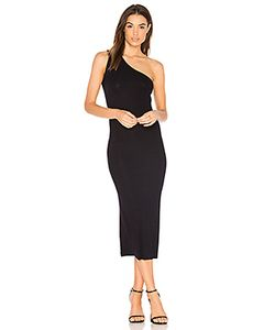 Enza Costa | Rib One Shoulder Midi Dress