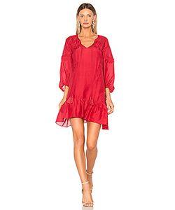 Derek Lam 10 Crosby | Bell Sleeve Ruffle Solid Dress