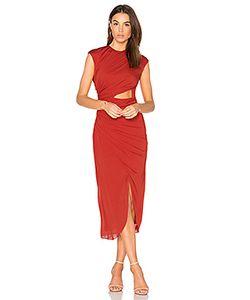 Halston Heritage | Ruched Hi Low Dress