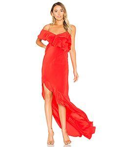 Michelle Mason | Asymmetrical Ruffle Gown