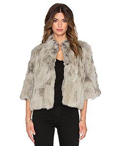Adrienne Landau | Куртка Из Текстурированного Меха Кролика