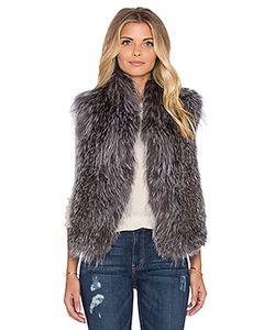 June | Меховой Жилет Knitted Fox Fur