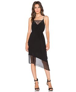 Heather | Платье Майка На Бретелях Asymmetrical Silk Lace