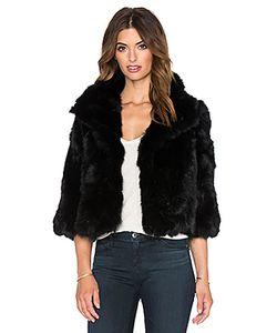 Adrienne Landau | Укороченная Куртка Из Меха Кролика