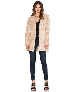 Adrienne Landau | Вязаное Пальто Из Меха Королевского Кролика