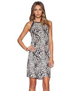 Eight Sixty | Платье-Футляр Без Пояса С Вырезом И Анимальным Принтом Вырез Chloe