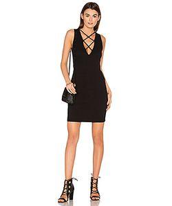 Lna   Lace Up V Dress