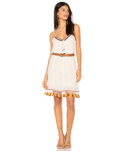 Band of Gypsies | Tassel Trim Belted Shift Dress