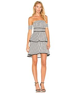 Endless Rose | Striped Off The Shoulder High Low Dress