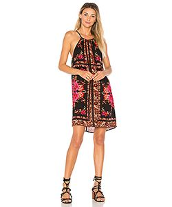 Band of Gypsies | Scarf Print High Neck Dress