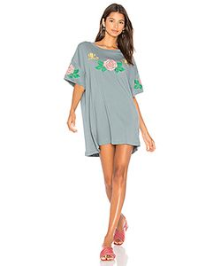 Wildfox Couture | Indigo Rose Embroidered T-Shirt Dress