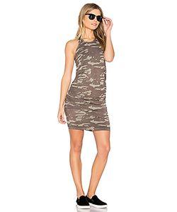 Monrow | Neutral Camo Shirred Dress