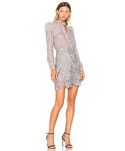 THREE FLOOR   Приталенное Расклёшенное Платье Lavish