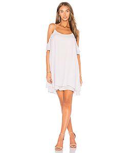 krisa | Cold Shoulder Ruffle Mini Dress