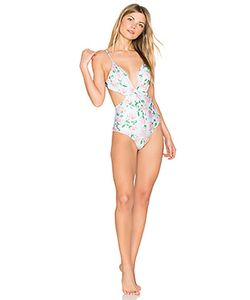 Wildfox Couture | Dusty Rose Print Marilyn Maillot One Piece Swimsuit