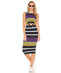 KENDALL + KYLIE | Multi Stripe Tie Waist Dress