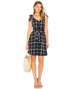 J.O.A. | Tie Shoulder Plaid Dress J.O.A.