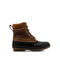 Sorel | Ботинки Cheyanne С Верхом Из Зернистой Кожи С Завязкой