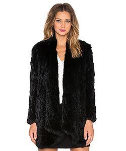 Arielle | Пальто Из Меха Кролика С Драпировкой Спереди