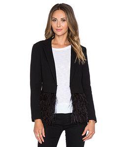 Lucy Paris | Куртка С Рюшами Из Перьев