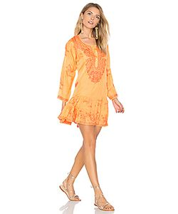 Juliet Dunn | Silk Long Sleeve Beach Dress