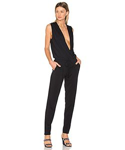 Bobi | Modal Jersey Drape Front Jumpsuit