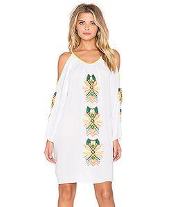 Pia Pauro | Cold Shoulder Embroidered Mini Dress