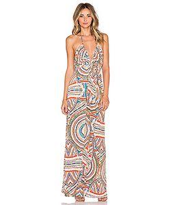 T-Bags LosAngeles | Макси Платье С V-Образным Вырезом На Бретельках