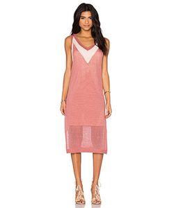 LEO & SAGE   Миди Платье С V-Образным Вырезом