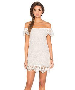 Nightcap | Мини Платье Seashell Lace Off Shoulder