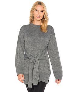 J.O.A. | Tie Front High Slit Sweater J.O.A.