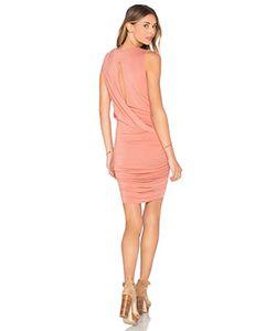 krisa | Twisted Drape Sheered Mini Dress