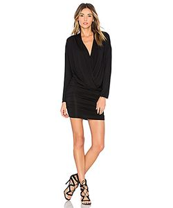 krisa | Surplice Sheered Mini Dress