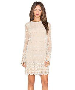 Ganni | Украшенное Цельнокройное Платье С Длинным Рукавом