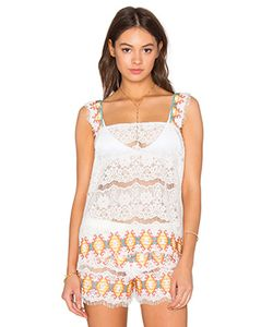 Queen & Pawn | Kea Embroidered Lace Tank