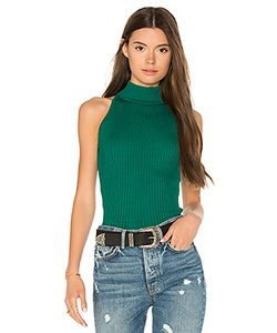 Autumn Cashmere | Rib Mock Neck Halter Sweater