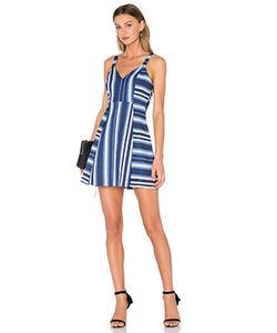 BCBGeneration | Мини Платье Cocktail Striped V Neck