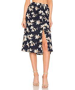 J.O.A. | Flower Print Midi Skirt J.O.A.