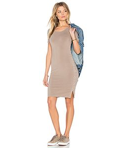 Monrow | Fitted Lace Up Dress