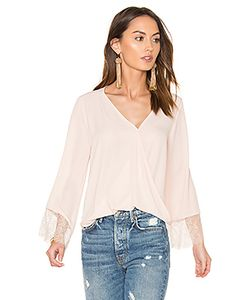 Eight Sixty | Wrap Front Bell Sleeve Lace Top