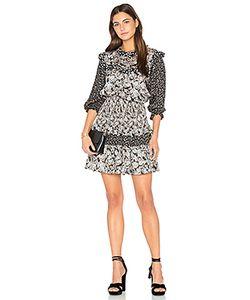 Rebecca Taylor | Long Sleeve Bijou Patch Dress