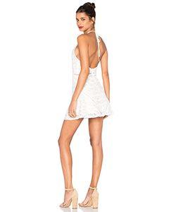 J.O.A. | Sleeveless Halter Neck Lace Dress