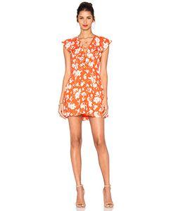 J.O.A. | Sleeveless Lace Up Floral Dress