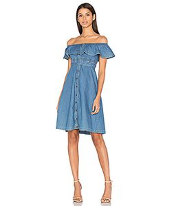 Hilfiger Collection | Chambray Short Sleeve Midi Dress