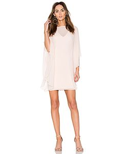 Halston Heritage | Fitted Ponte Dress With Sheer Overlay