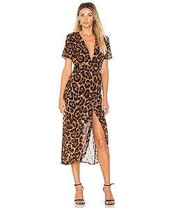 BARDOT | Leopard Wrap Dress